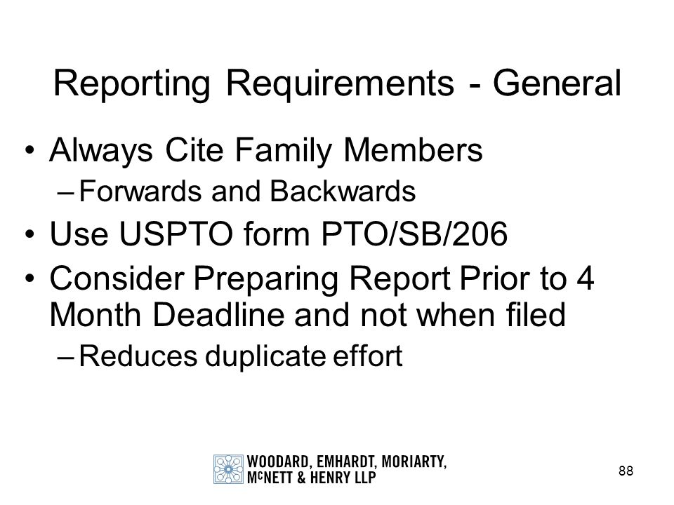 Reporting Requirements - General