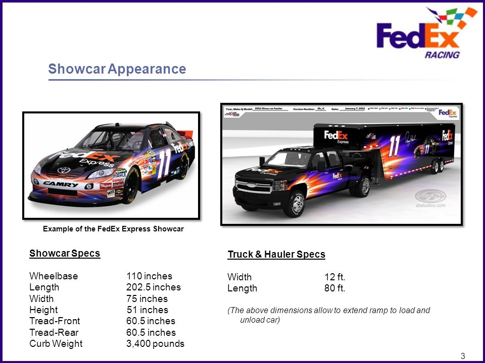 Example of the FedEx Express Showcar
