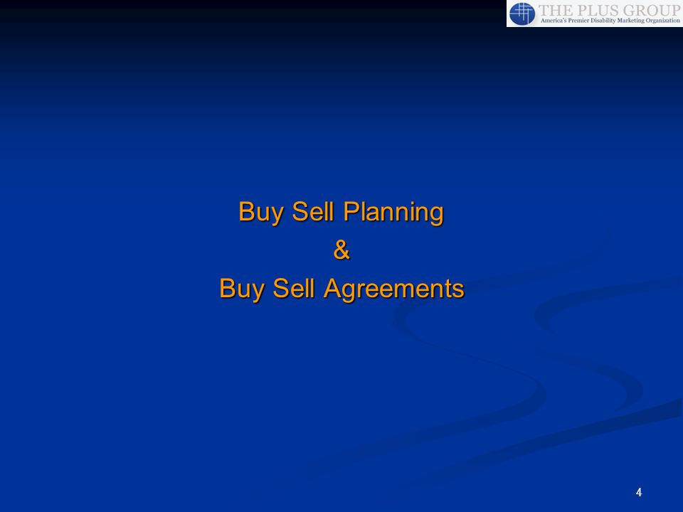 Buy Sell Planning & Buy Sell Agreements
