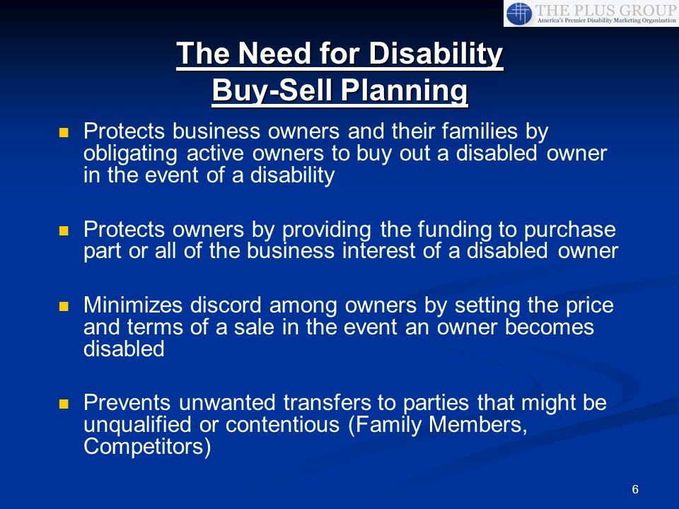 The Need for Disability Buy-Sell Planning