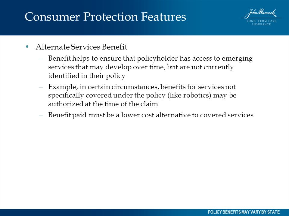 Consumer Protection Features