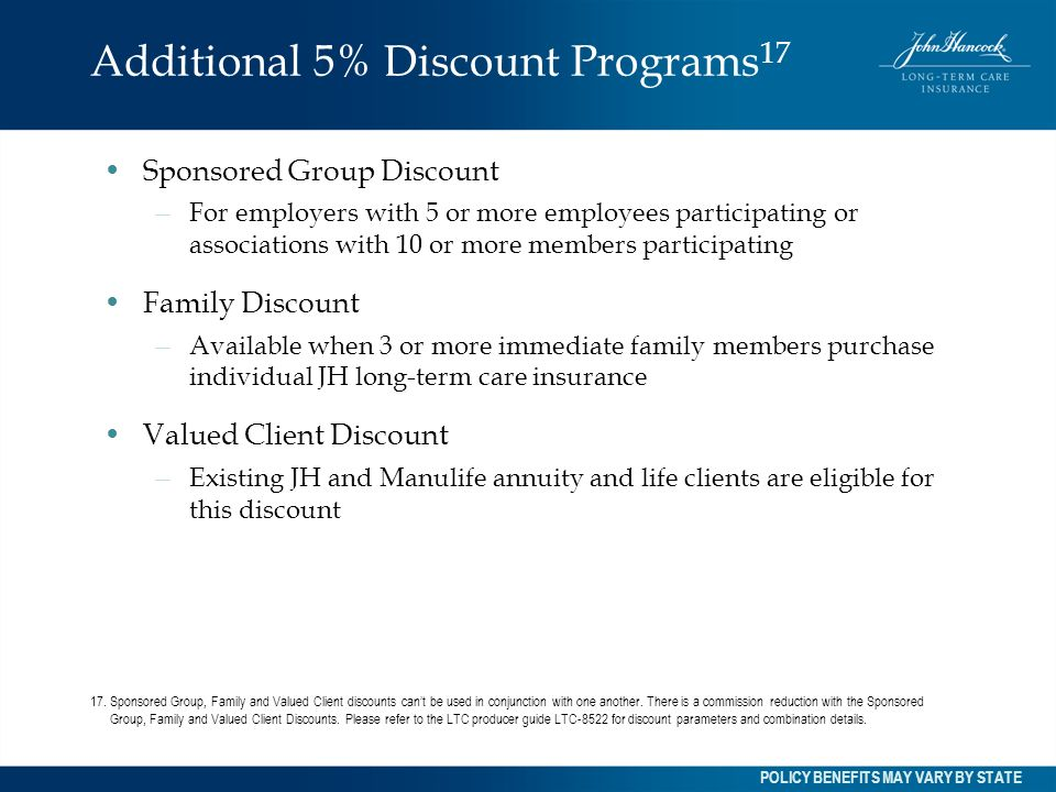 Additional 5% Discount Programs17