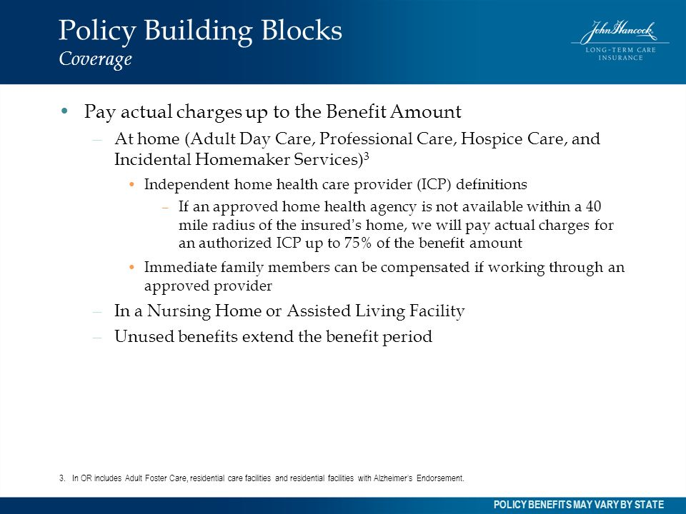 Policy Building Blocks Coverage