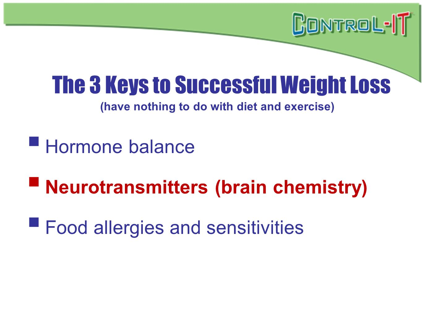 The 3 Keys to Successful Weight Loss (have nothing to do with diet and exercise)