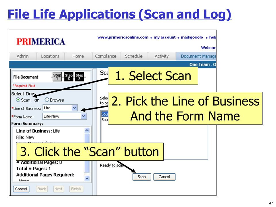 File Life Applications (Scan and Log)