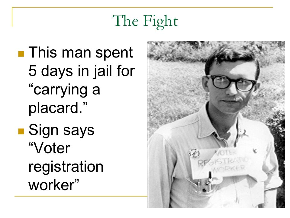 The Fight This man spent 5 days in jail for carrying a placard.