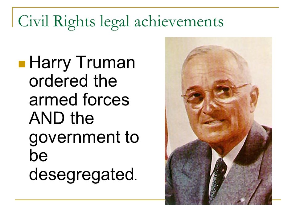 Civil Rights legal achievements