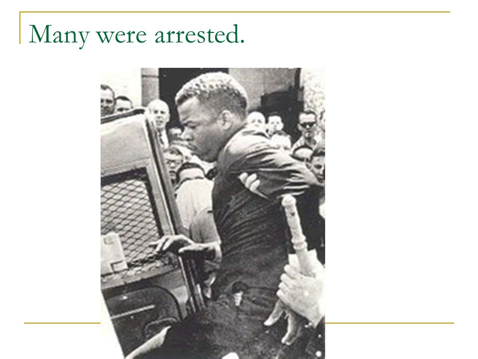 Many were arrested.