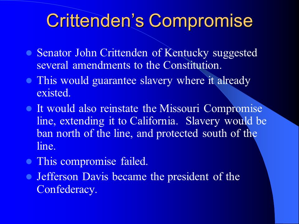Crittenden's Compromise