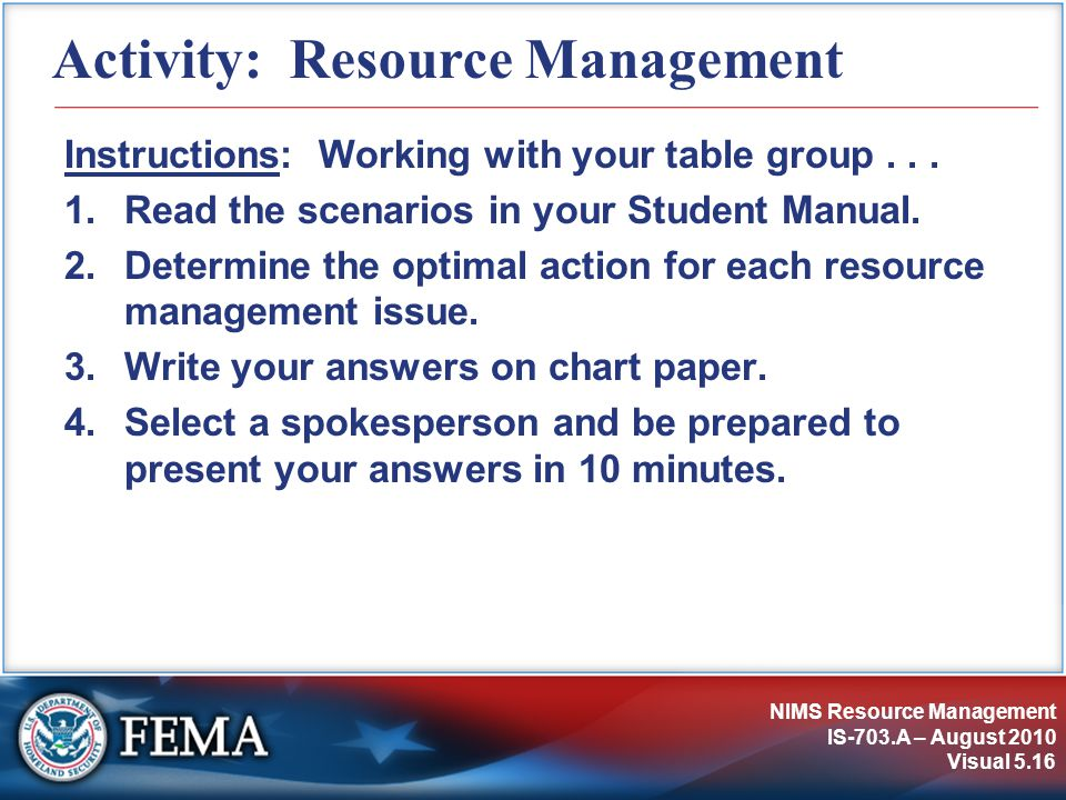 Activity: Resource Management