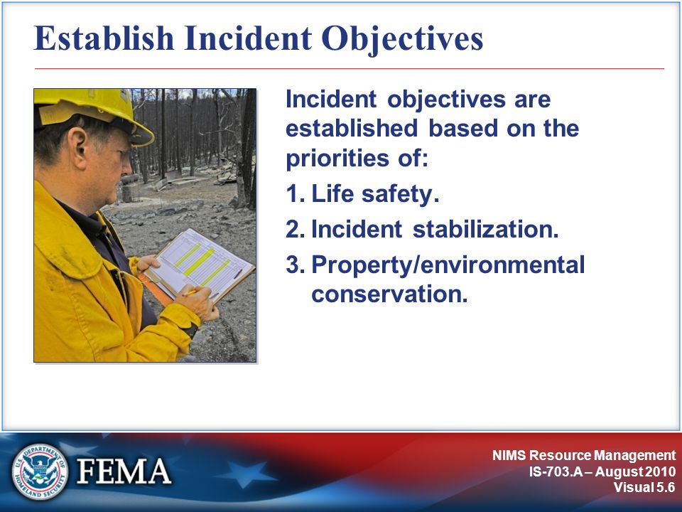 Establish Incident Objectives