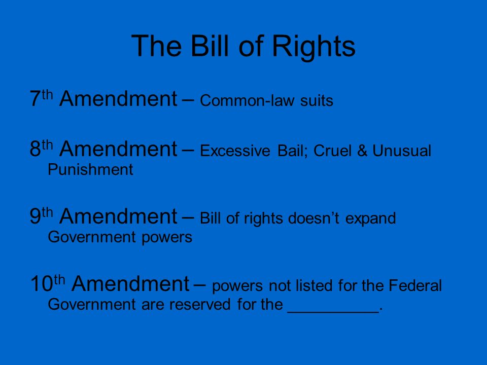 The Bill of Rights 7th Amendment – Common-law suits