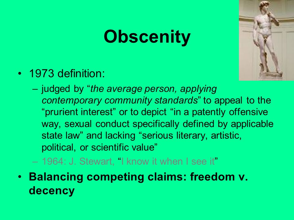 Obscenity 1973 definition: