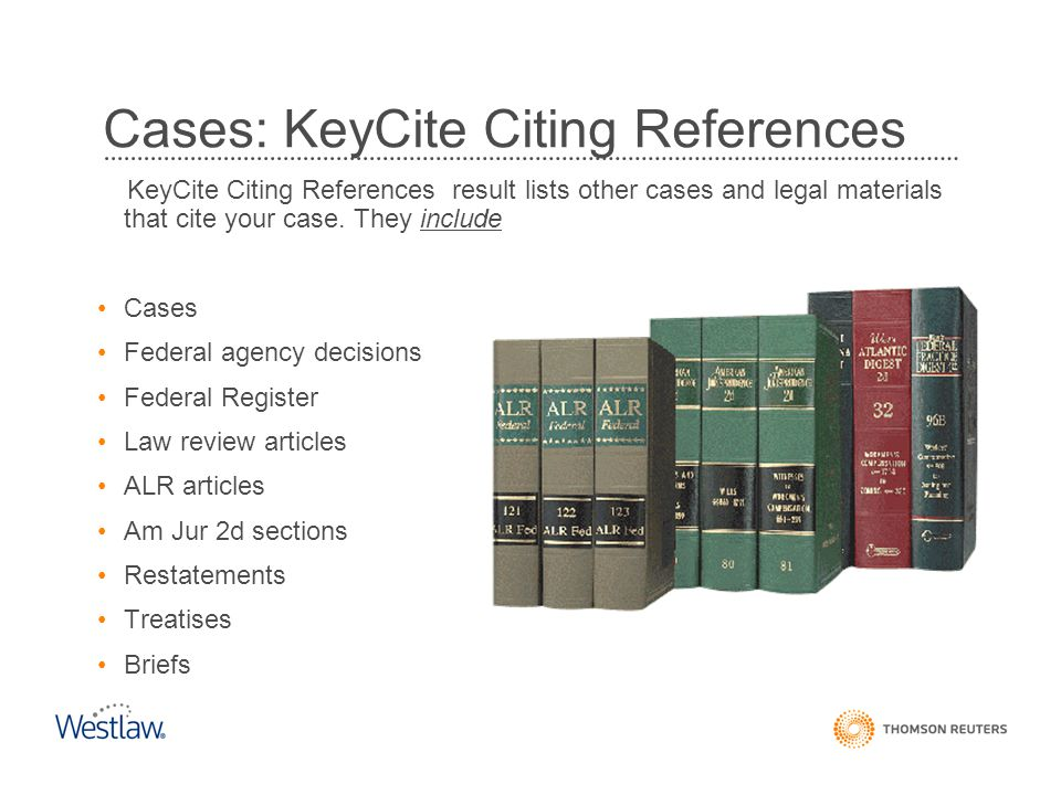 Cases: KeyCite Citing References