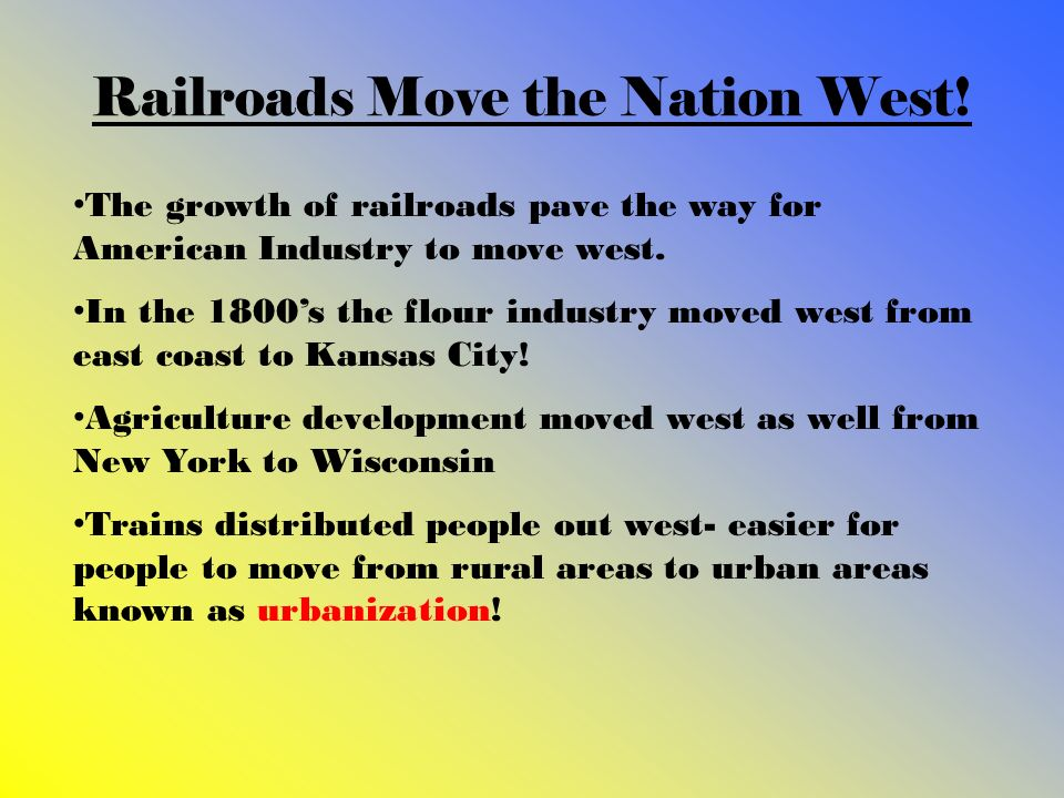 Railroads Move the Nation West!