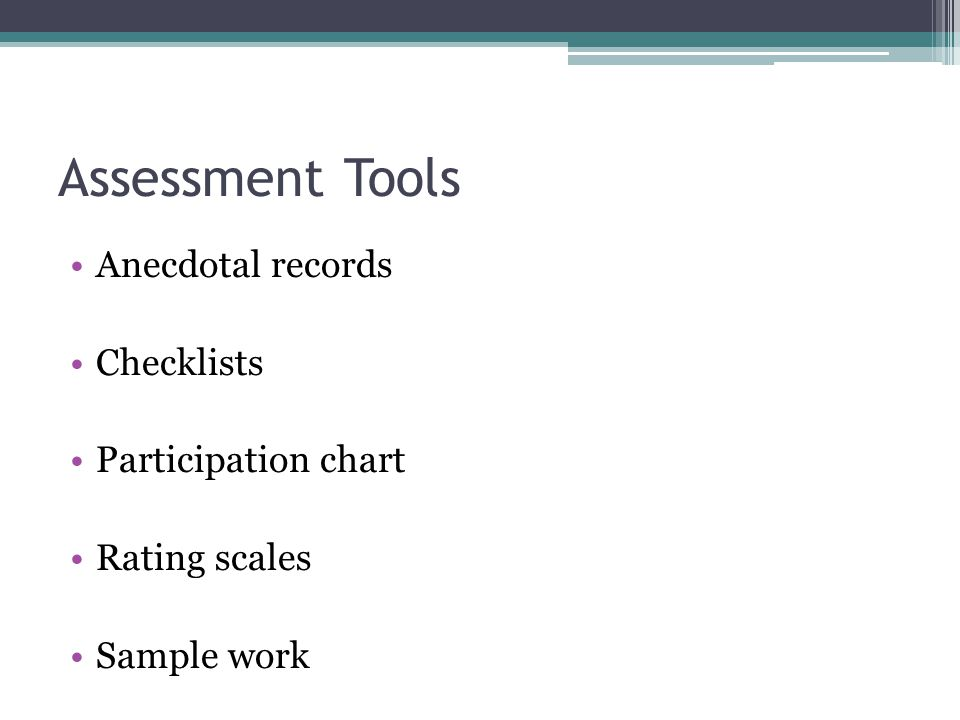 Observing Children A Tool For Assessment Ppt Video Online