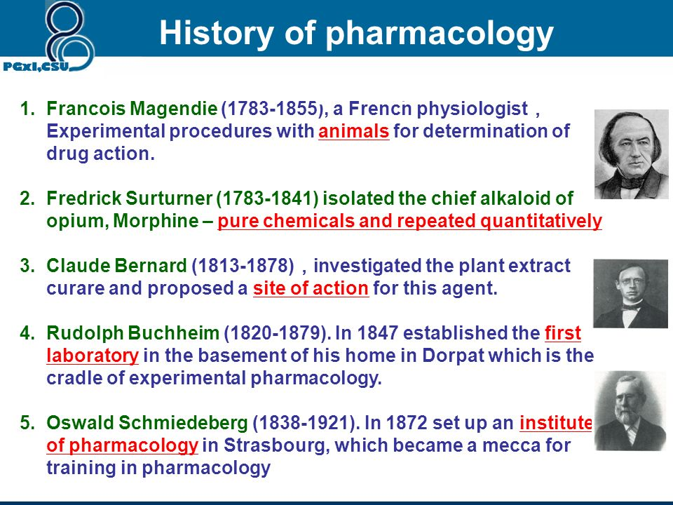 History of pharmacology Modern pharmacology originated in Europe