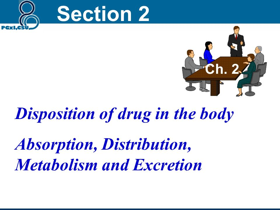 Section 2 Disposition of drug in the body