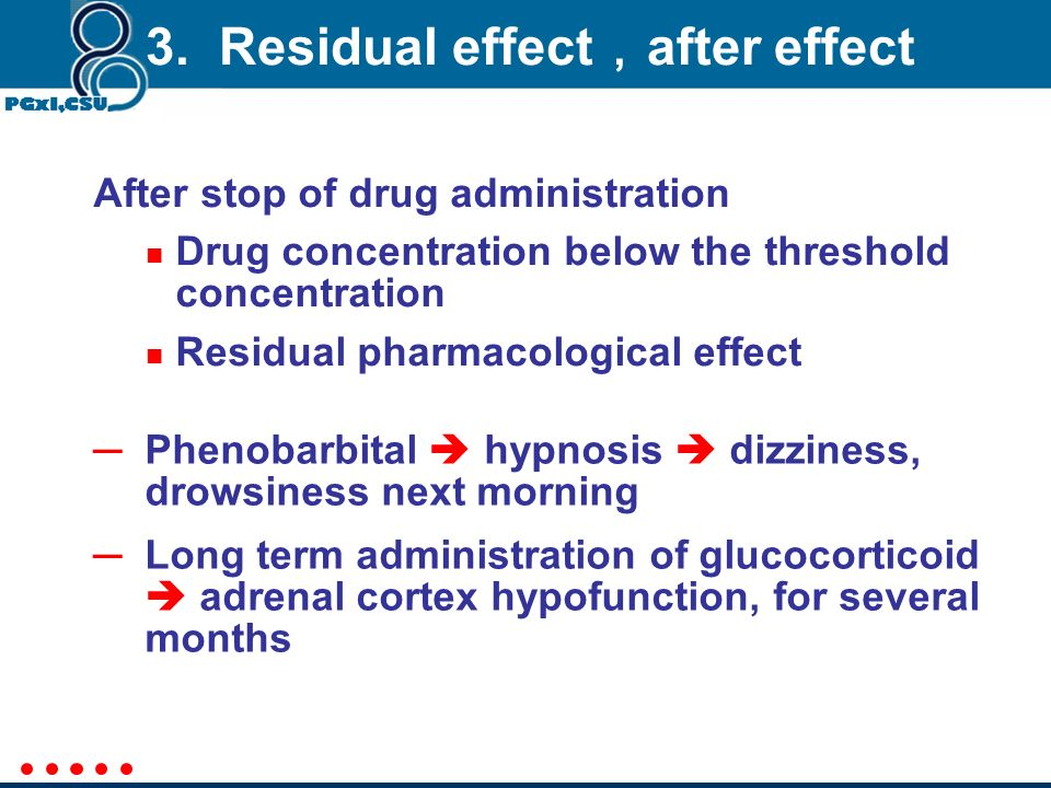 3. Residual effect,after effect