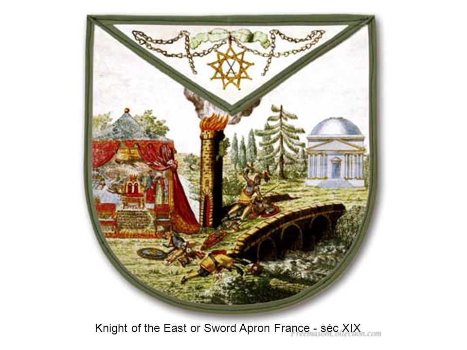 Knight of the East or Sword Apron France - séc XIX