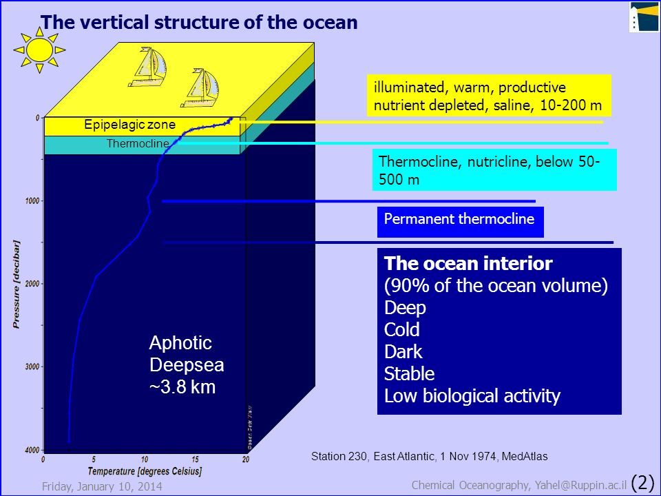 The vertical structure of the ocean