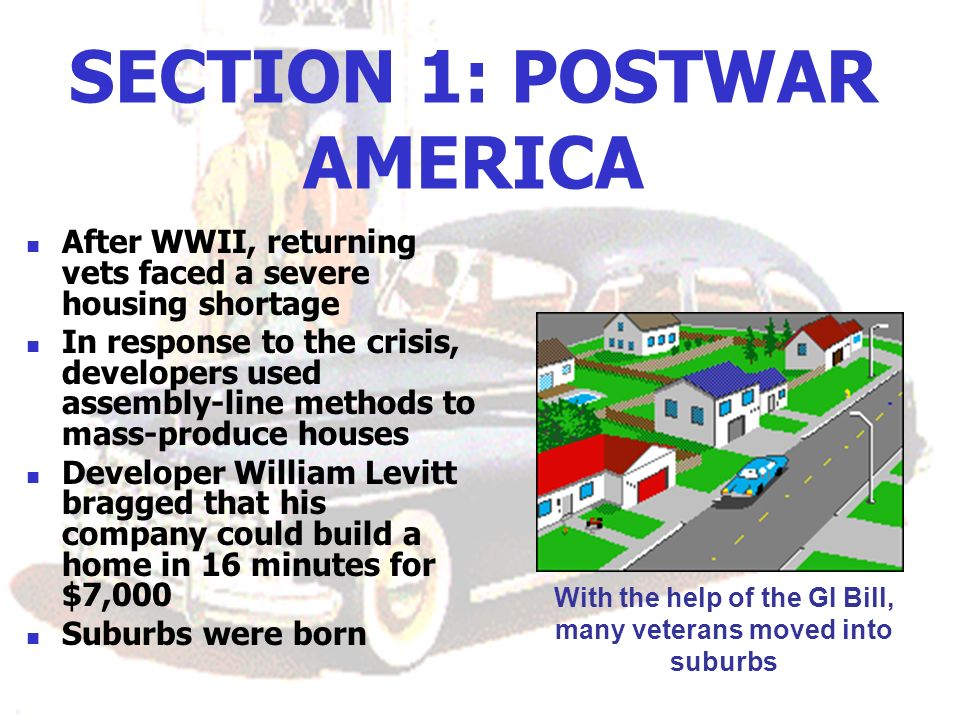 SECTION 1: POSTWAR AMERICA
