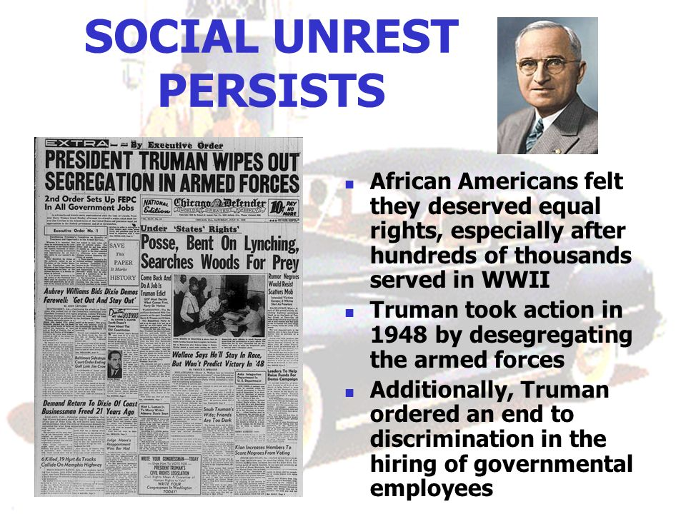 SOCIAL UNREST PERSISTS