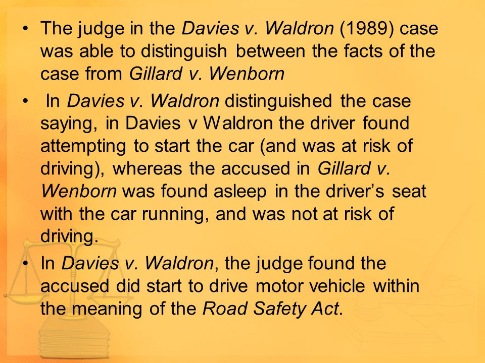 The judge in the Davies v