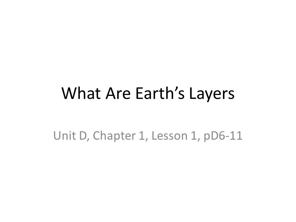 What Are Earth's Layers