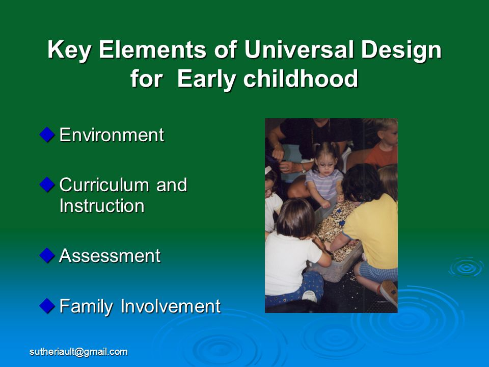 Key Elements of Universal Design for Early childhood