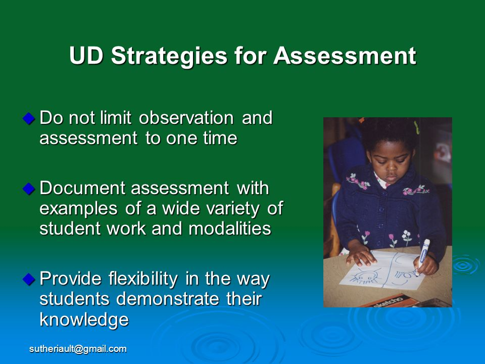 UD Strategies for Assessment