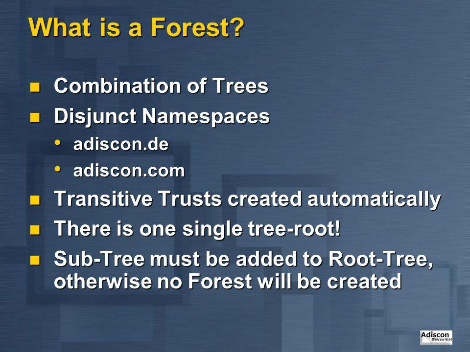 What is a Forest Combination of Trees Disjunct Namespaces