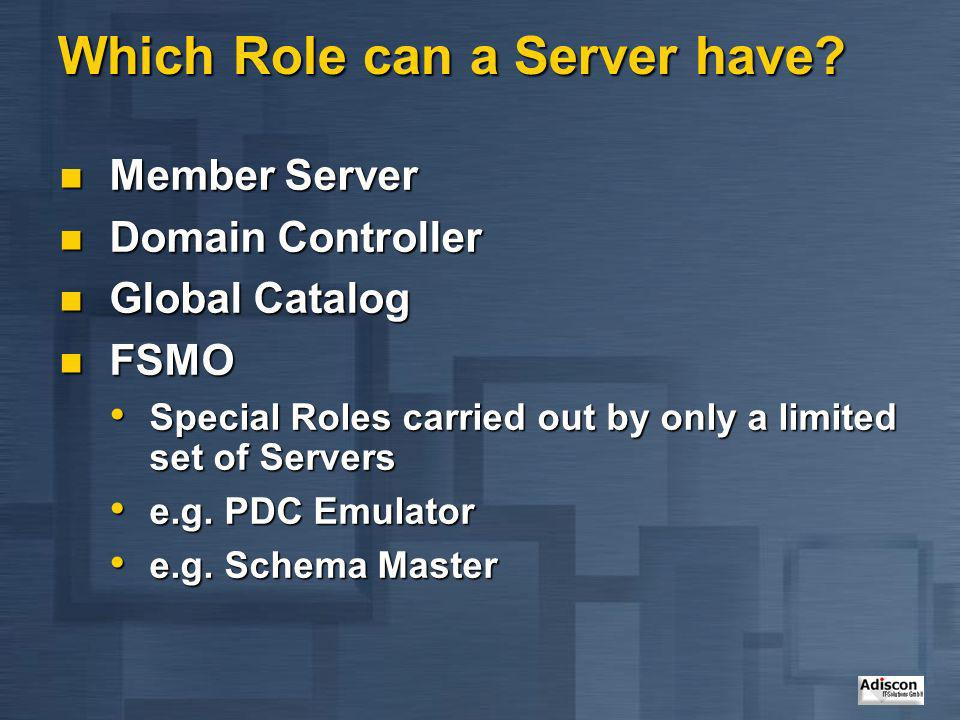Which Role can a Server have