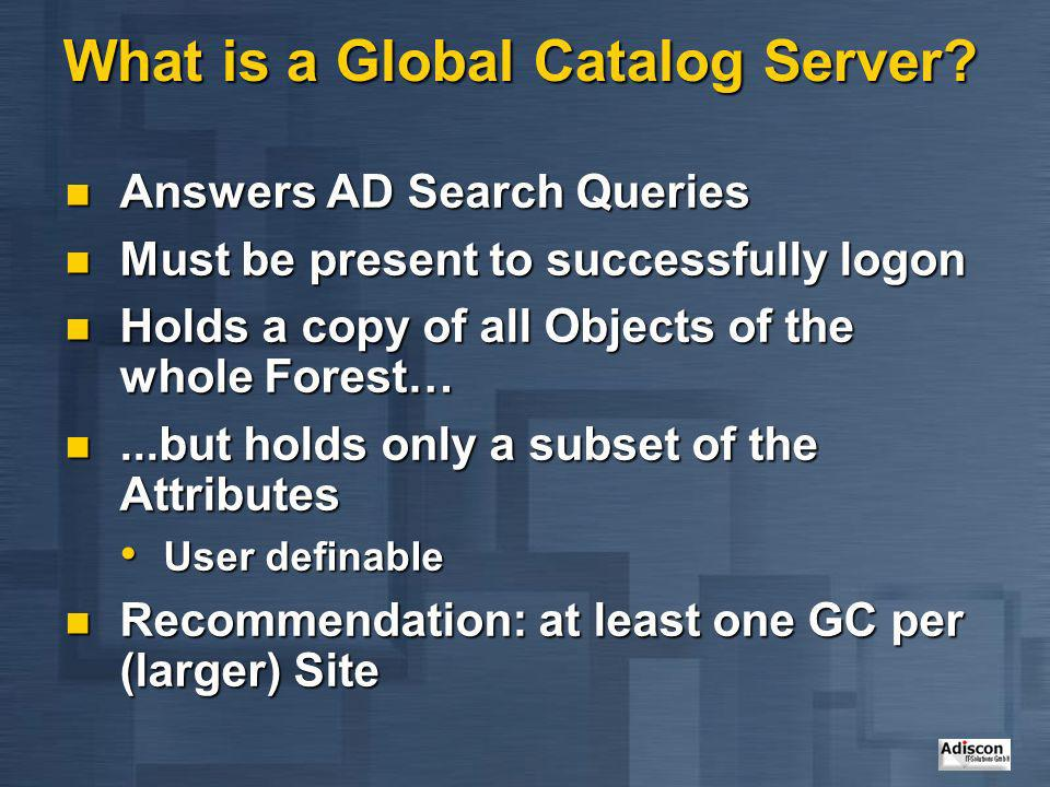 What is a Global Catalog Server