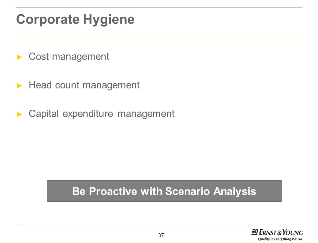 Be Proactive with Scenario Analysis