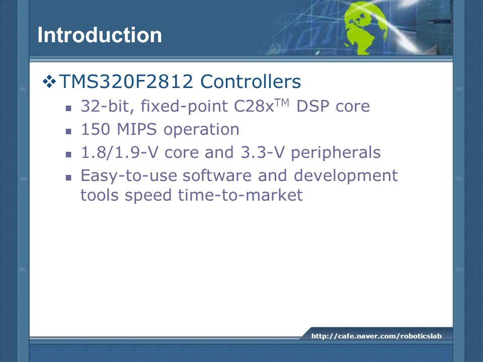 Introduction TMS320F2812 Controllers