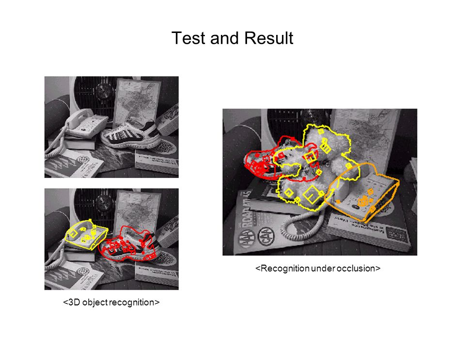 Test and Result <Recognition under occlusion>