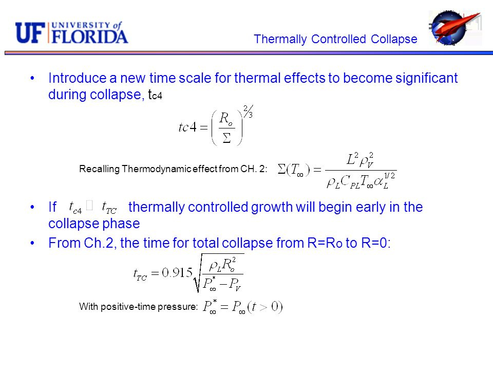 Thermally Controlled Collapse