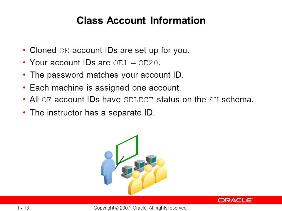 Class Account Information