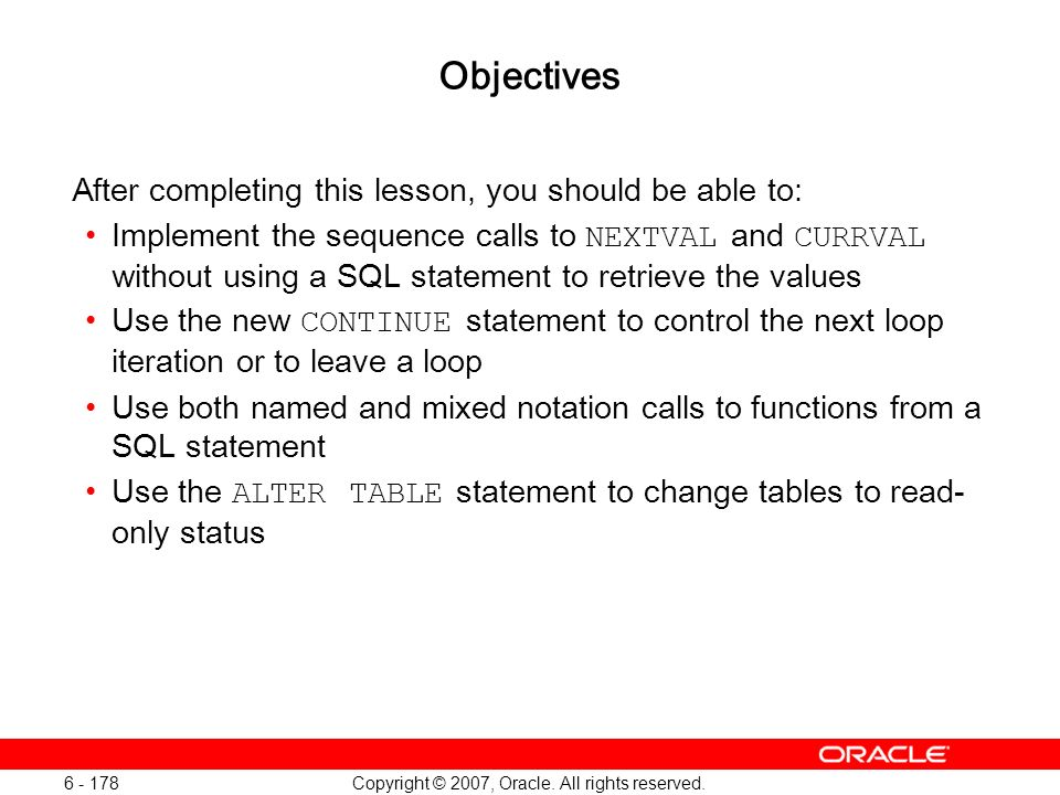 Oracle Database 11g: SQL and PL/SQL New Features 1 - 178