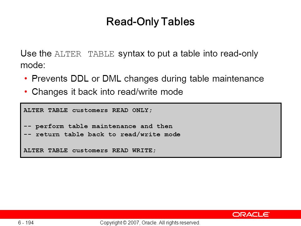 Oracle Database 11g: SQL and PL/SQL New Features 1 - 194