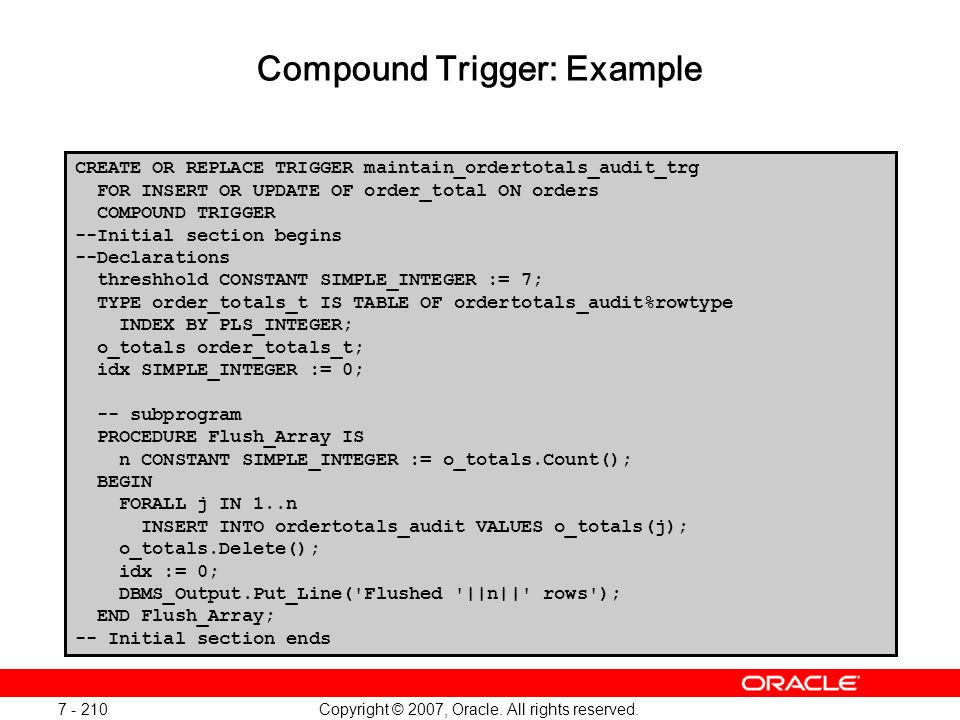 Compound Trigger: Example