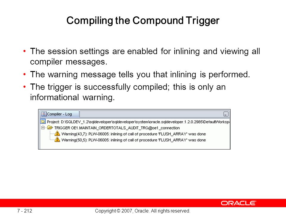 Compiling the Compound Trigger
