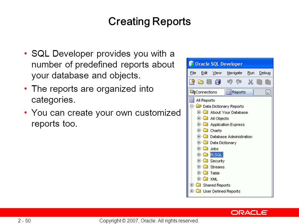 Oracle Database 11g: SQL and PL/SQL New Features 1 - 50