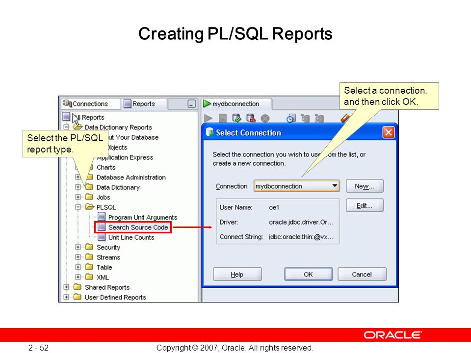 Creating PL/SQL Reports