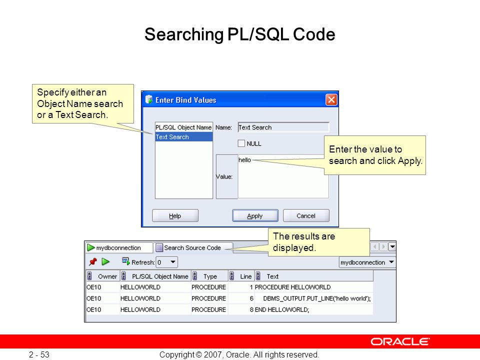 Oracle Database 11g: SQL and PL/SQL New Features 1 - 53