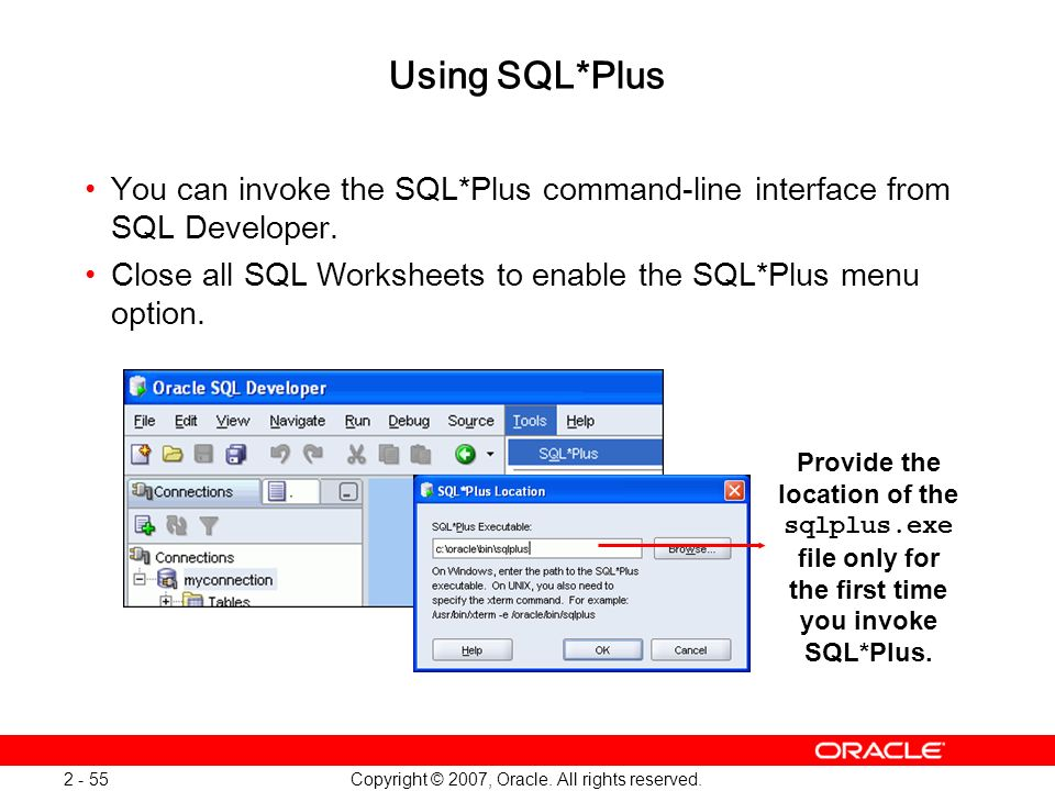 Oracle Database 11g: SQL and PL/SQL New Features 1 - 55