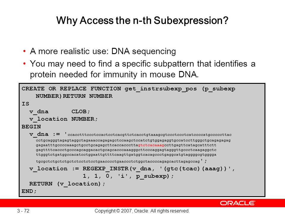 Why Access the n-th Subexpression