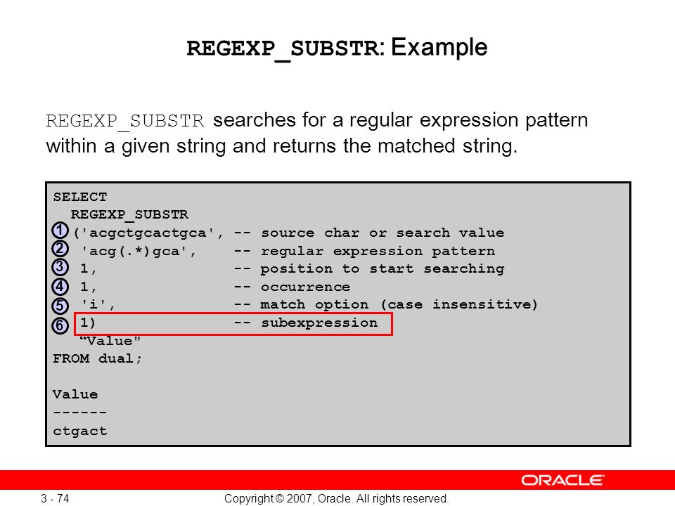 REGEXP_SUBSTR: Example