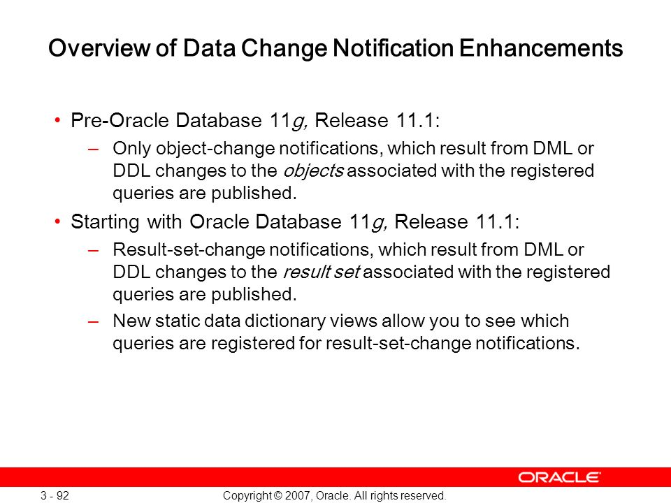 Overview of Data Change Notification Enhancements